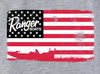 Graphic S/S Tee - Heather Grey -American Flag