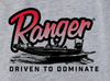 RGR94 - Graphic S/S Tee - Heather Grey - Red Ranger Boat