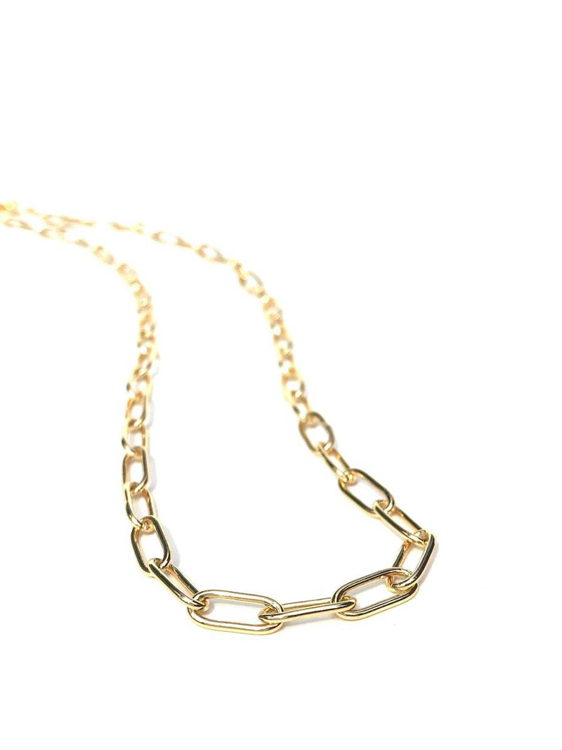 Large Oval Link Chain Necklace 80011