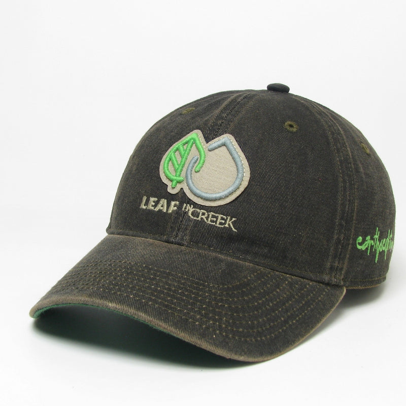 LIC Hat Leaf Drop Logo -Black