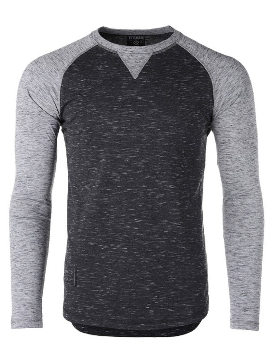 ZIMEGO Mens Athletic Baseball Retro Raglan