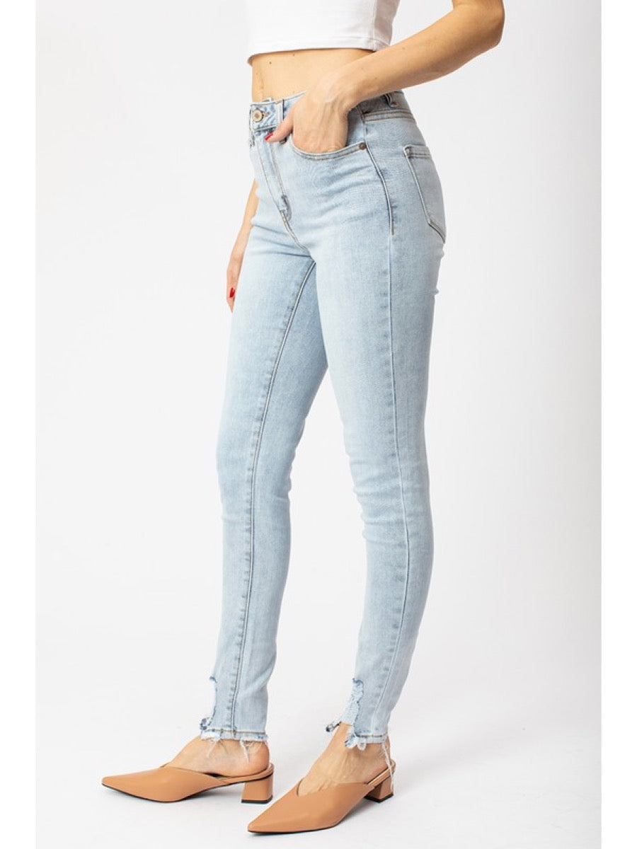 High Rise Hem Detail Super Skinny - KC7112L