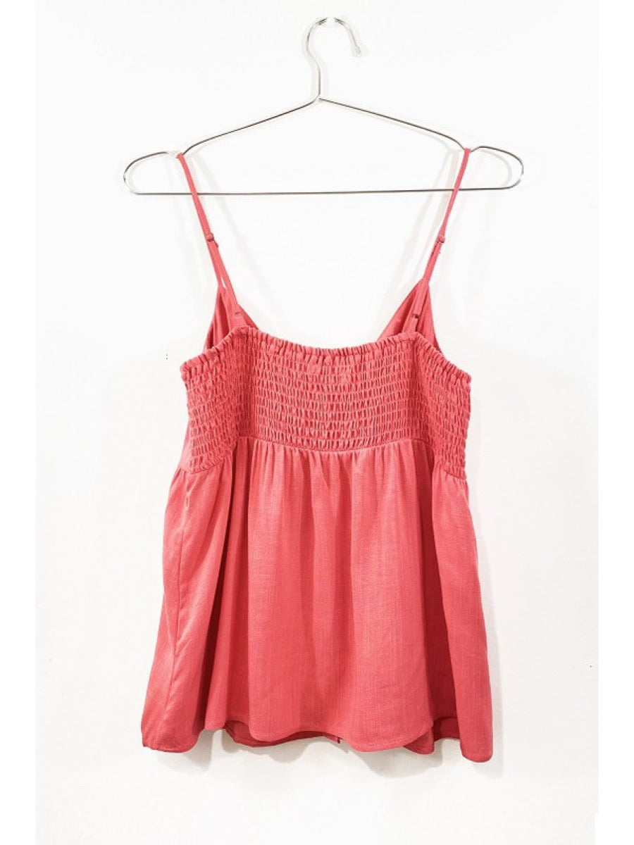 BUTTON DOWN SPAGHETTI STRAP CAMISOLE 16965-20