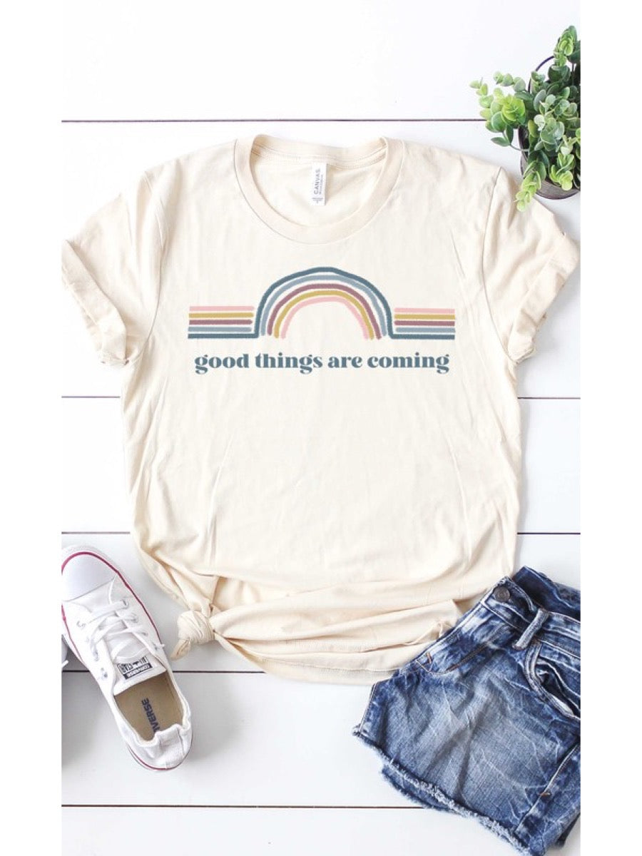 Retro good things are coming graphic tee