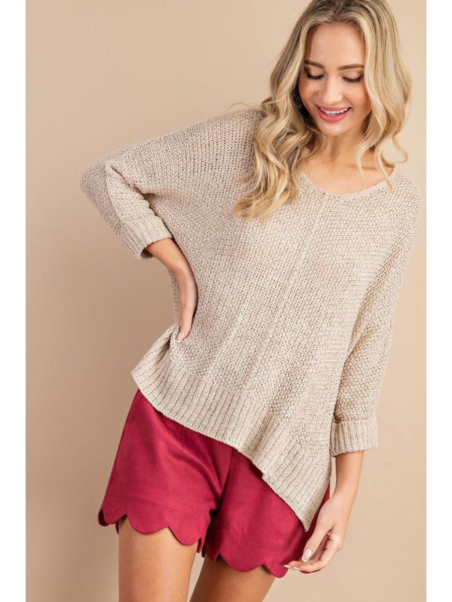 CREW NECK KNIT SWEATER SK2207