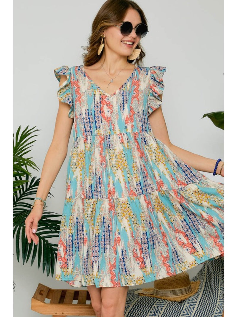 VINTAGE MULTI COLOR DRESS MYD14113