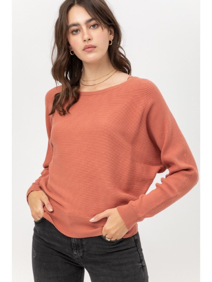 DOLMAN SLEEVE SWEATER  9827WN