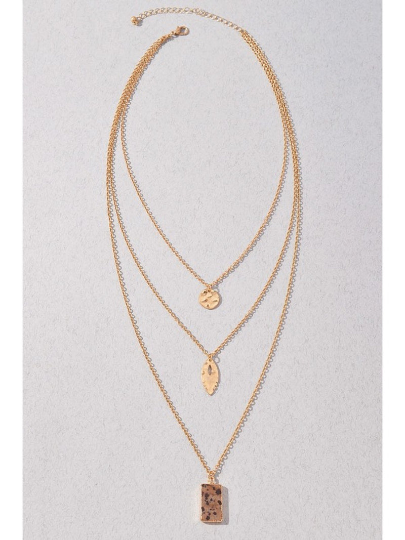 Triple layering necklace NEW-J1NMN0115