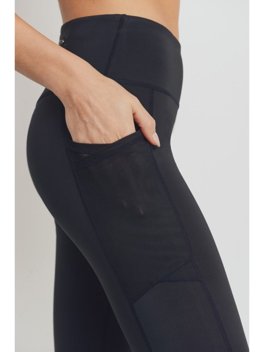 Overlay Mesh Pocket Highwaist Leggings APH8005