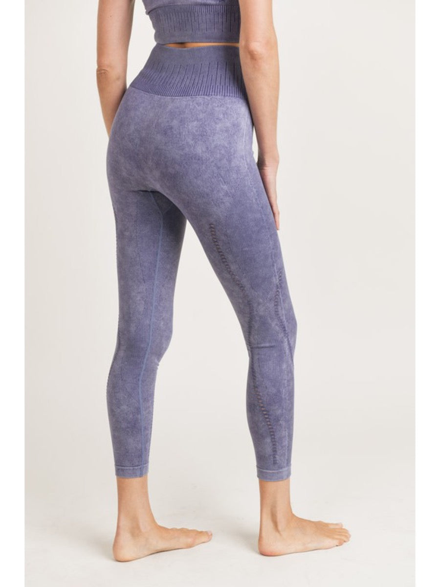 Ribbed Perforated Seamless Highwaist Leggings APH2942