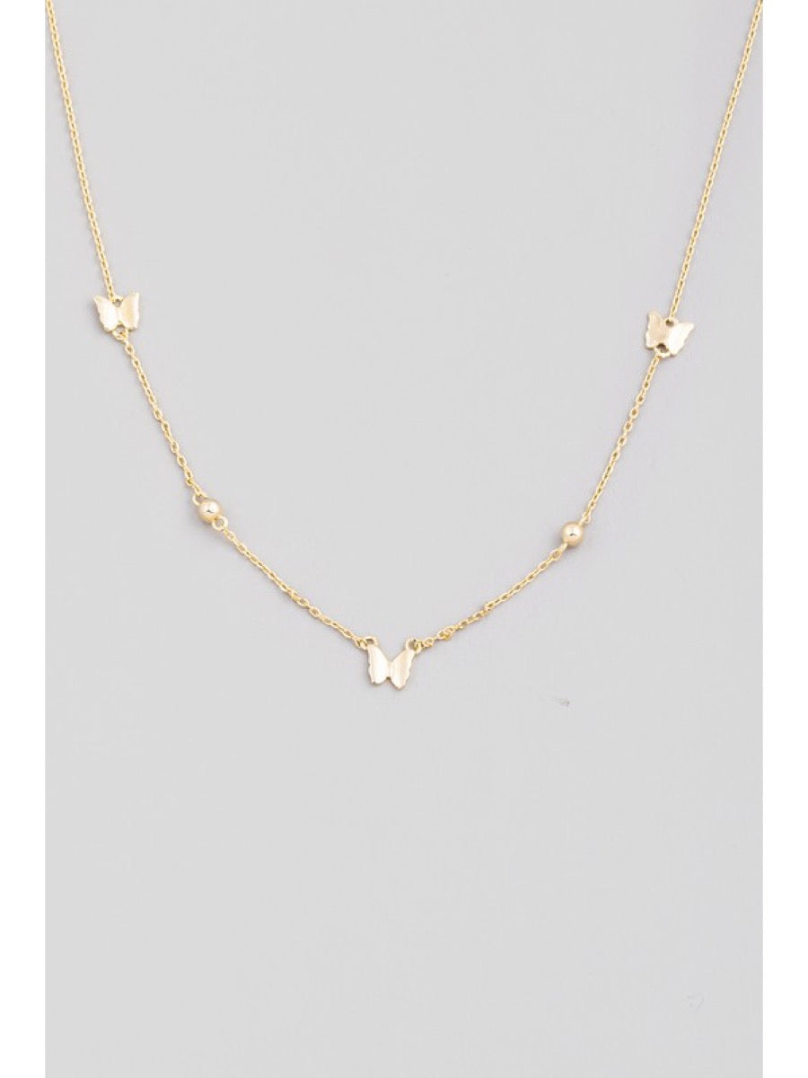 Dainty Butterfly Charm Necklace