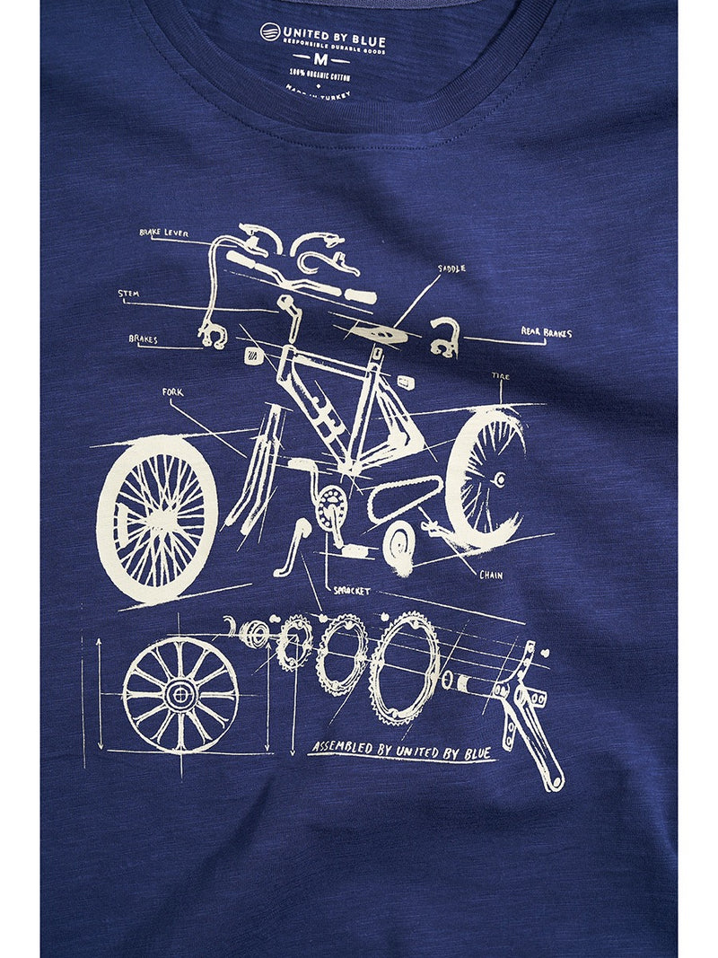 United By Blue Men's S/S Graphic Tee Built To Ride
