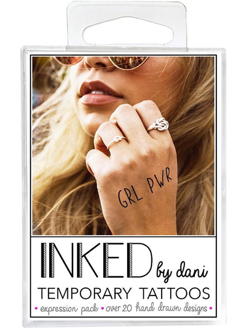 Inked by Dani Temporary Tattoo Pack The Expression