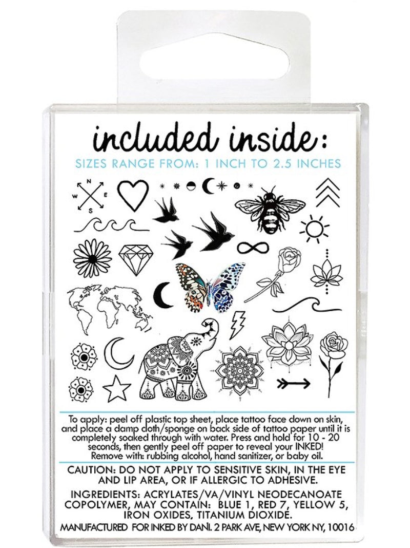 Inked by Dani Temporary Tattoo Best Sellers Pack