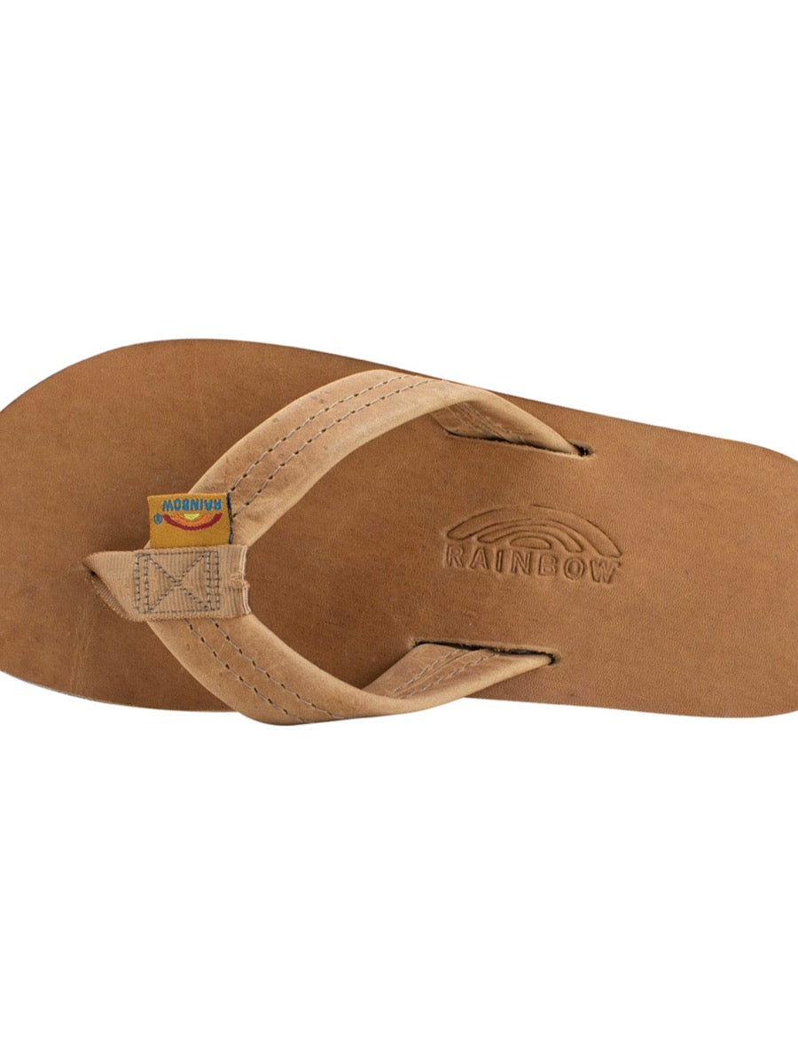 Rainbow Men's Luxury Leather - Buckskin Single Layer Arch Support