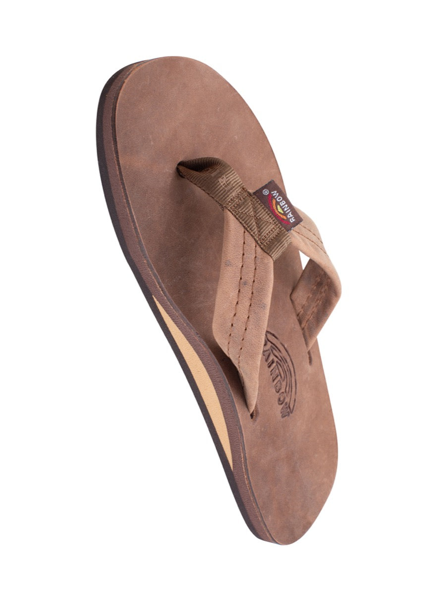 Rainbow Men's Luxury Leather - Nogales Wood Single Layer Arch Support