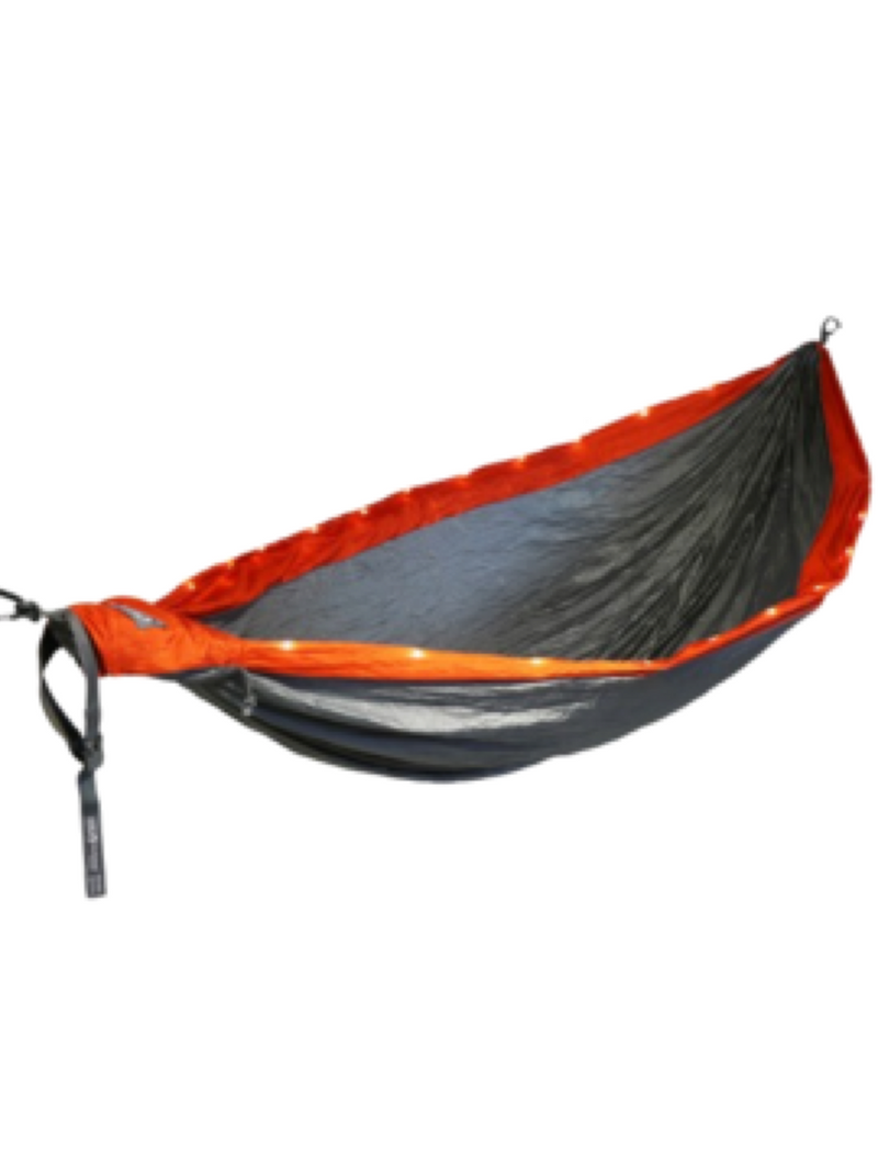 ENO DoubleNest LED, Orange/Grey OS Hammock
