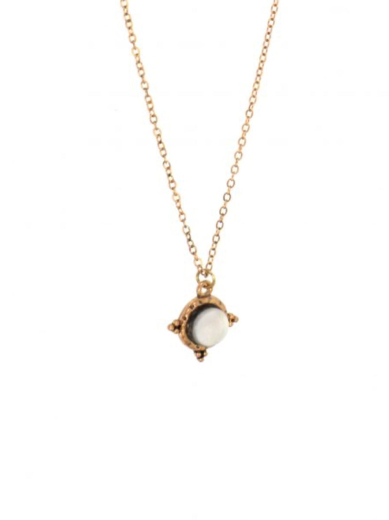 Joy Susan Antiqued Gold Moonstone Pendant