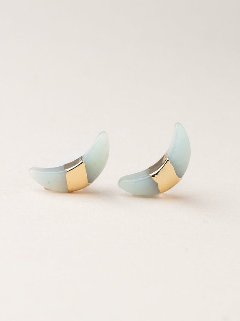Scout Crescent Moon Stud -  earring
