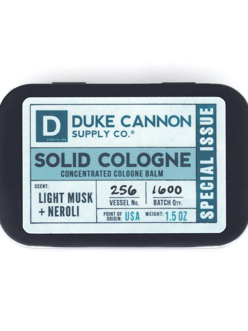 Duke Cannon Solid Cologne Light Musk + Neroli