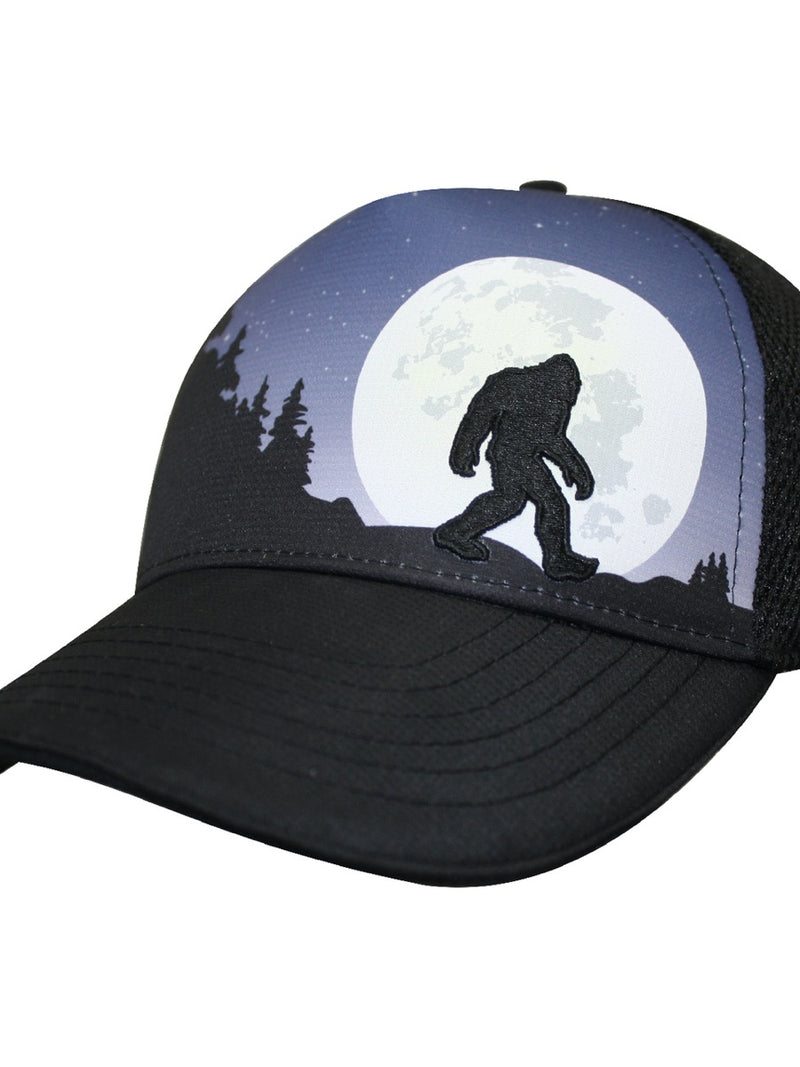 Headsweats Trucker Hat Bigfoot Moon Rising