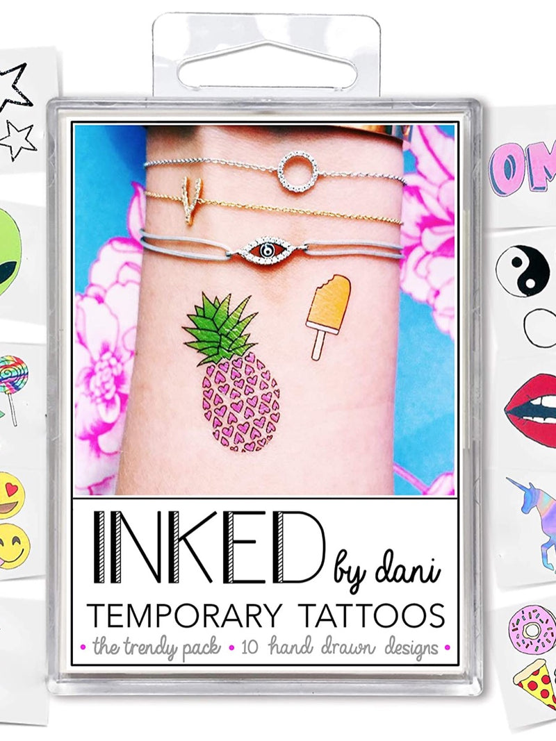 Inked by Dani Temporary Tattoo Pack The Trendy