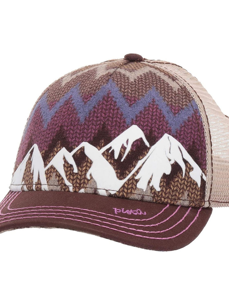 Pistil McKinley Trucker Hat 1620P Brown Purple