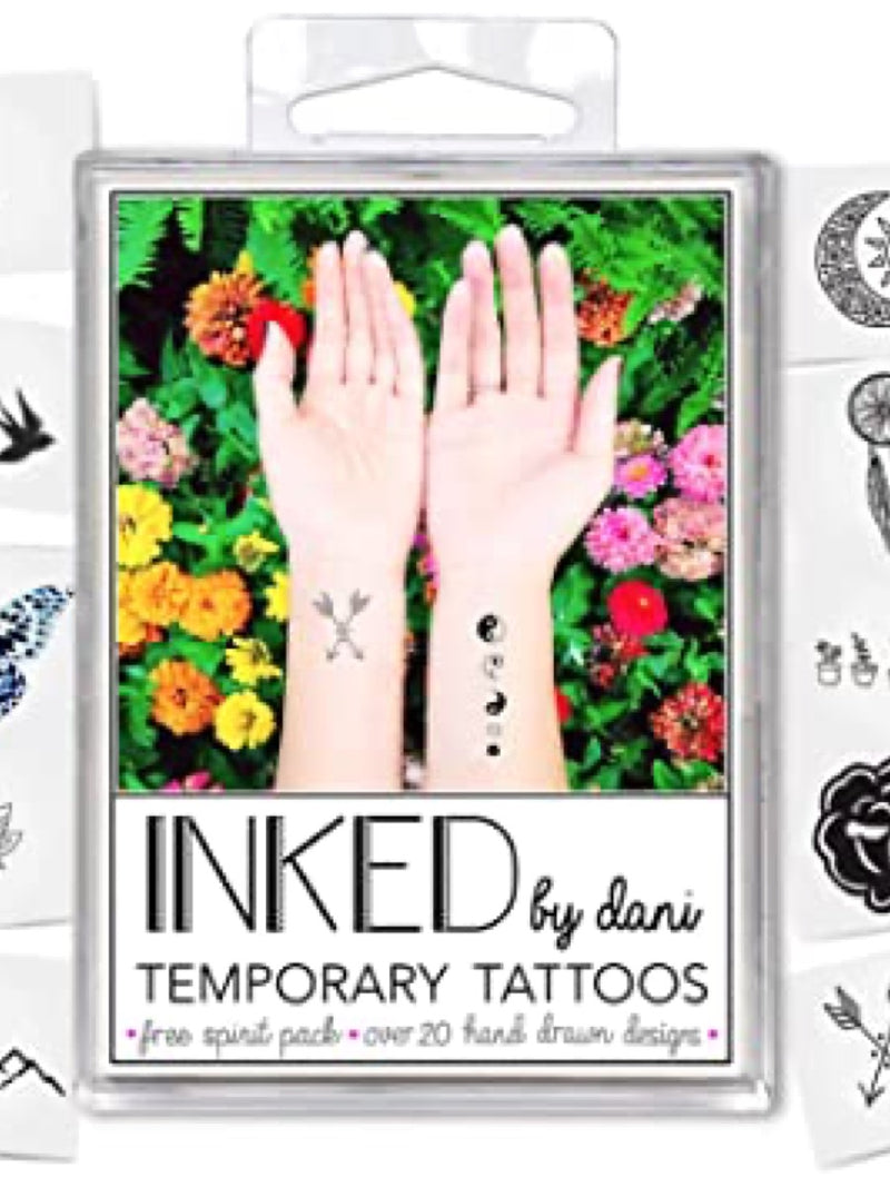Inked by Dani Temporary Tattoo Pack The Free Spirit