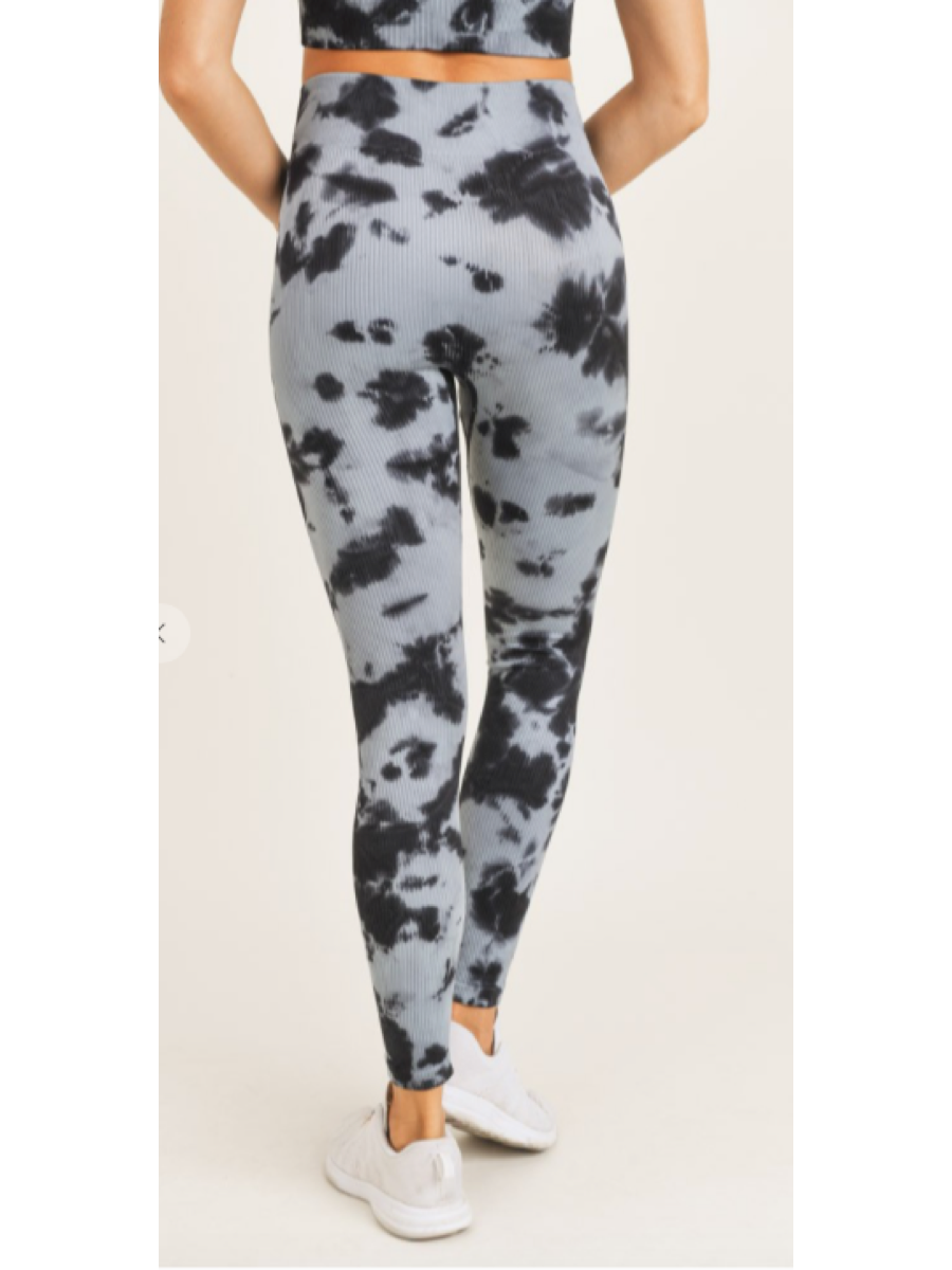 Smokescreen Tie-Dye Ribbed Leggings APH3049
