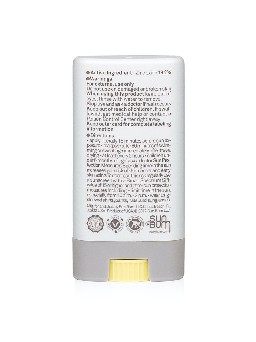 Sun Bum Baby Bum Mineral SPF 50 Sunscreen Face Stick-Fragrance Free