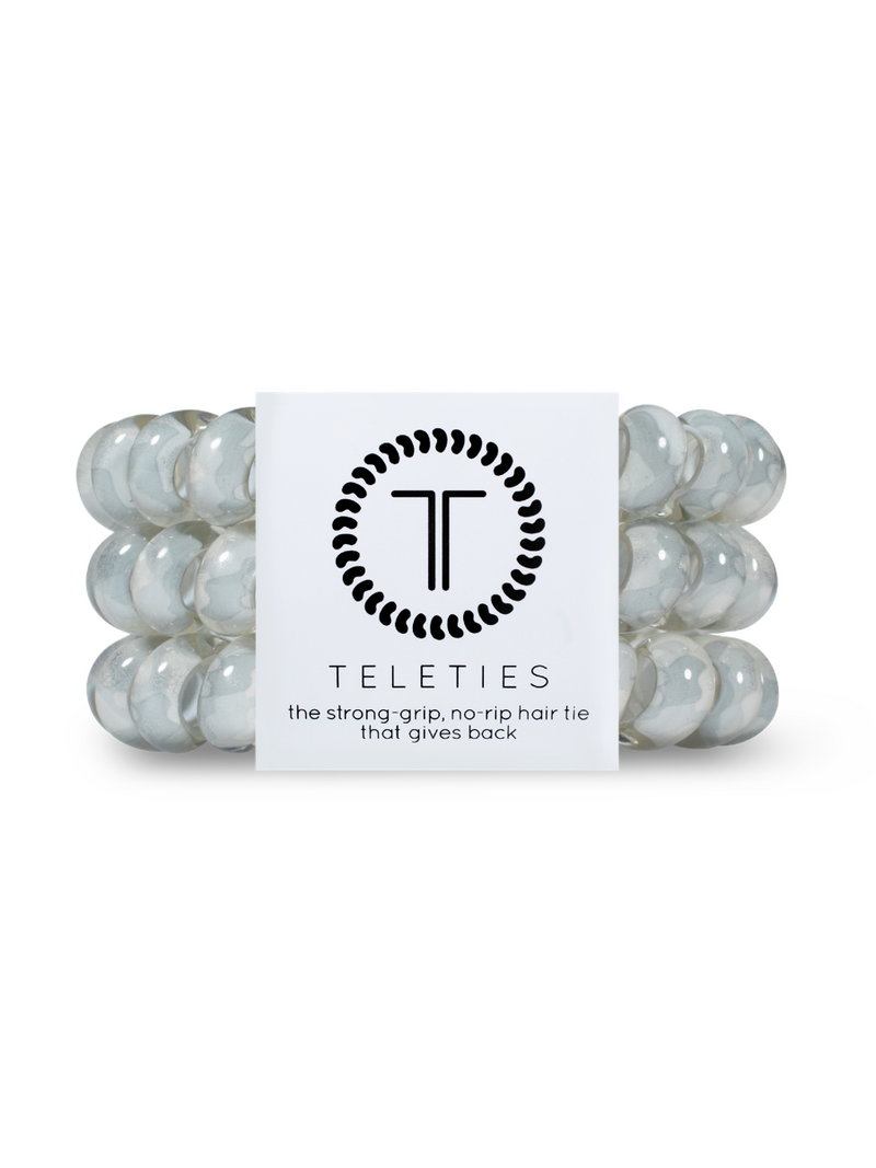 Teleties Large 3 Pack Hair Ties Grey Hound