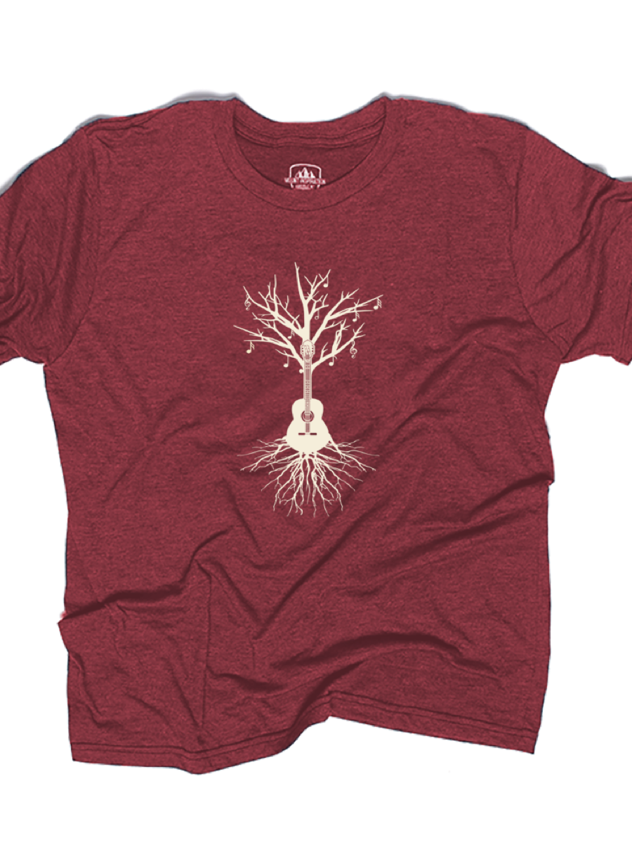GUITAR TREE TEE (ECO TRIBLEND)