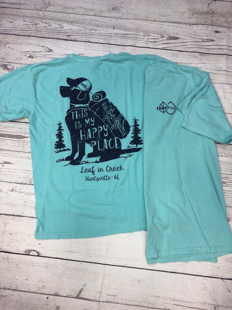 LIC Happy Hiking Dog Comfort Color Tee Chalky Mint