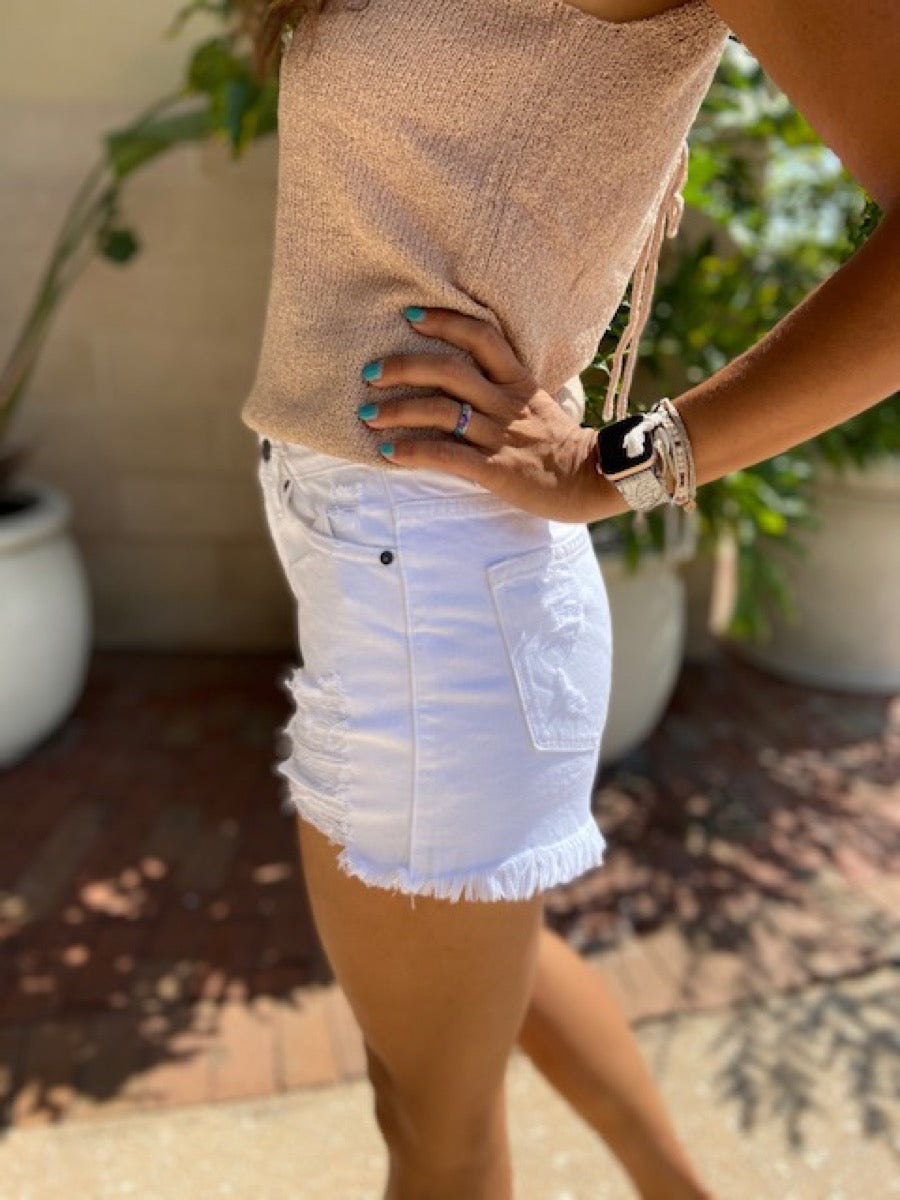 Distressed High waist Shorts KC7259