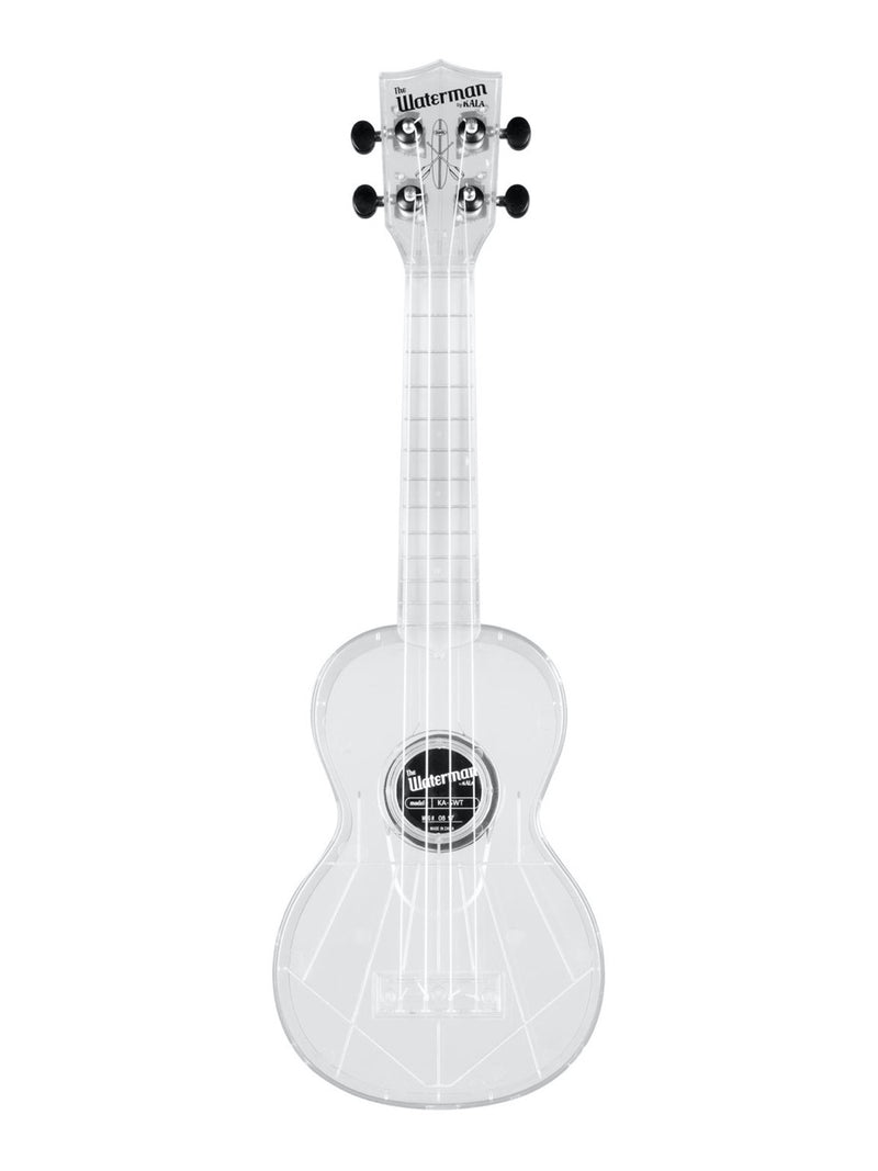 Kala Ukulele Transparent Ice Soprano Waterman Uke