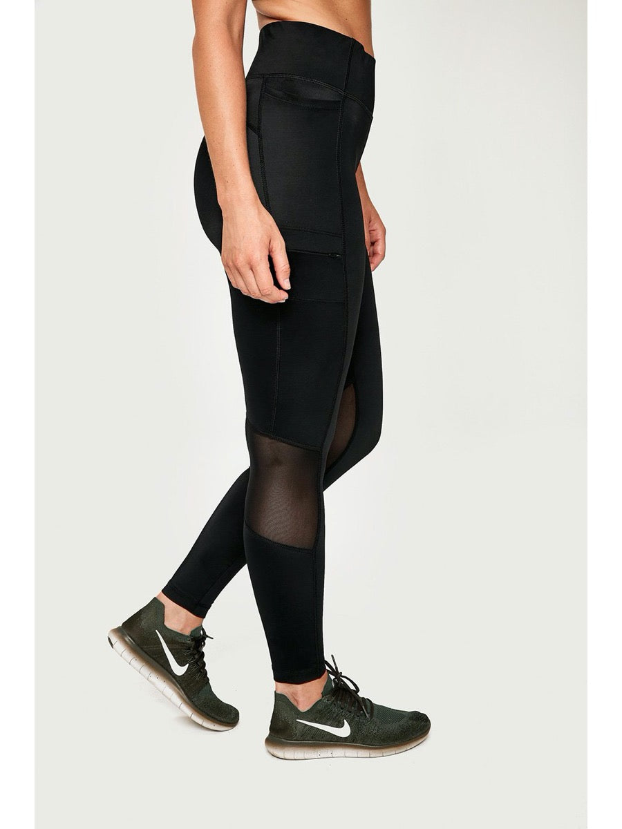 LOLE BURST ANKLE HIGH WAIST LEGGING -Black