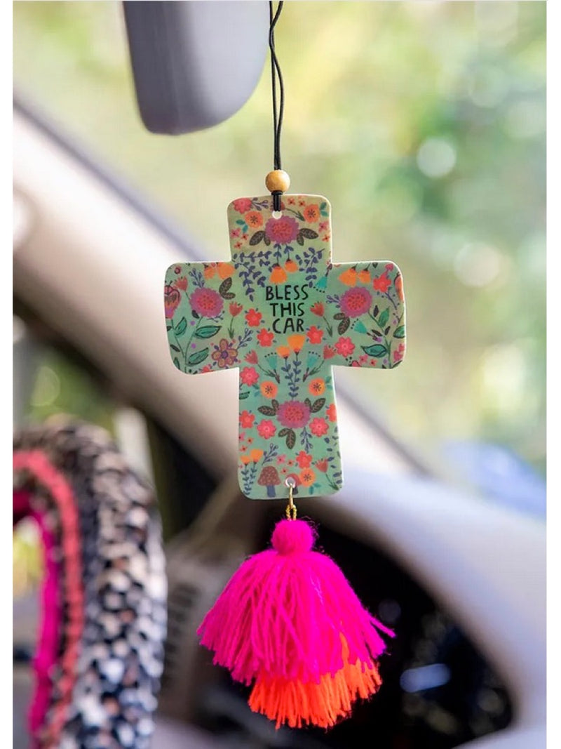 Natural Life Bless This Car Air Freshener