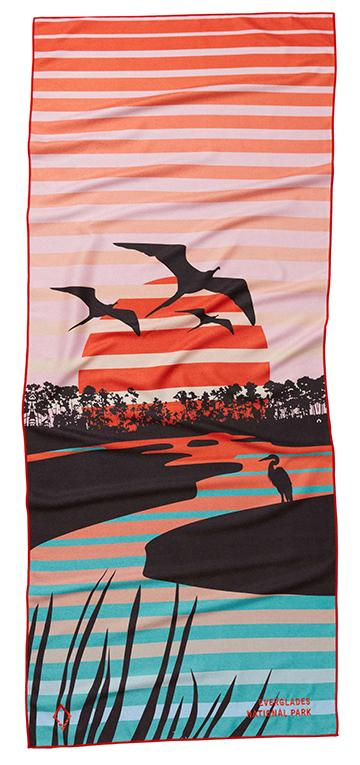 Nomadix Towel - National Parks: Everglades Pink/Teal