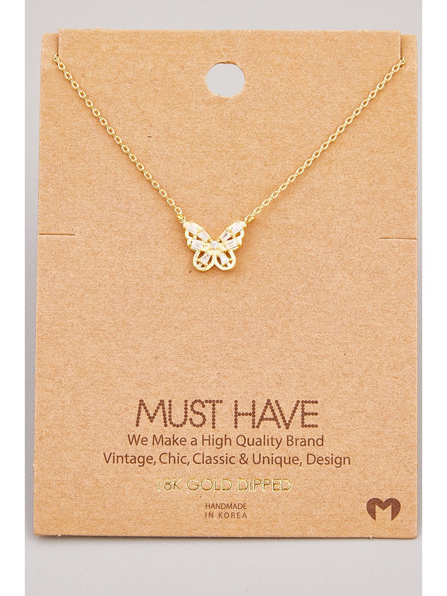 Butterfly Necklace NN4549G