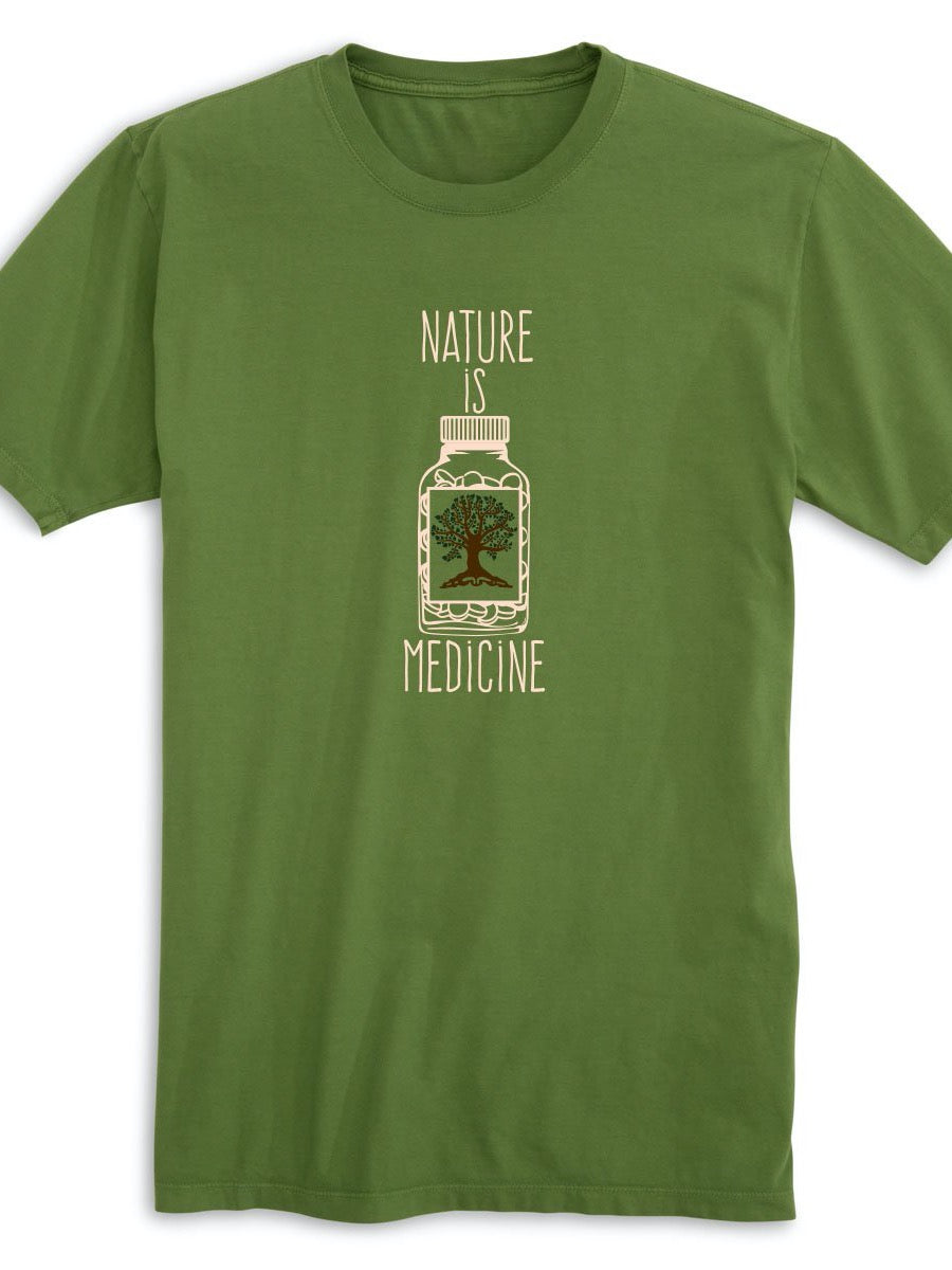 NATURE IS MEDICINE. 100% ORGANIC COTTON.