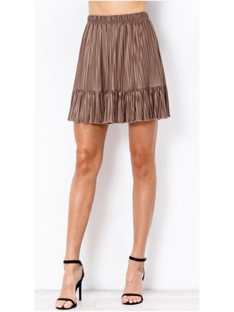 Pleated Skirt H90132 Mocha