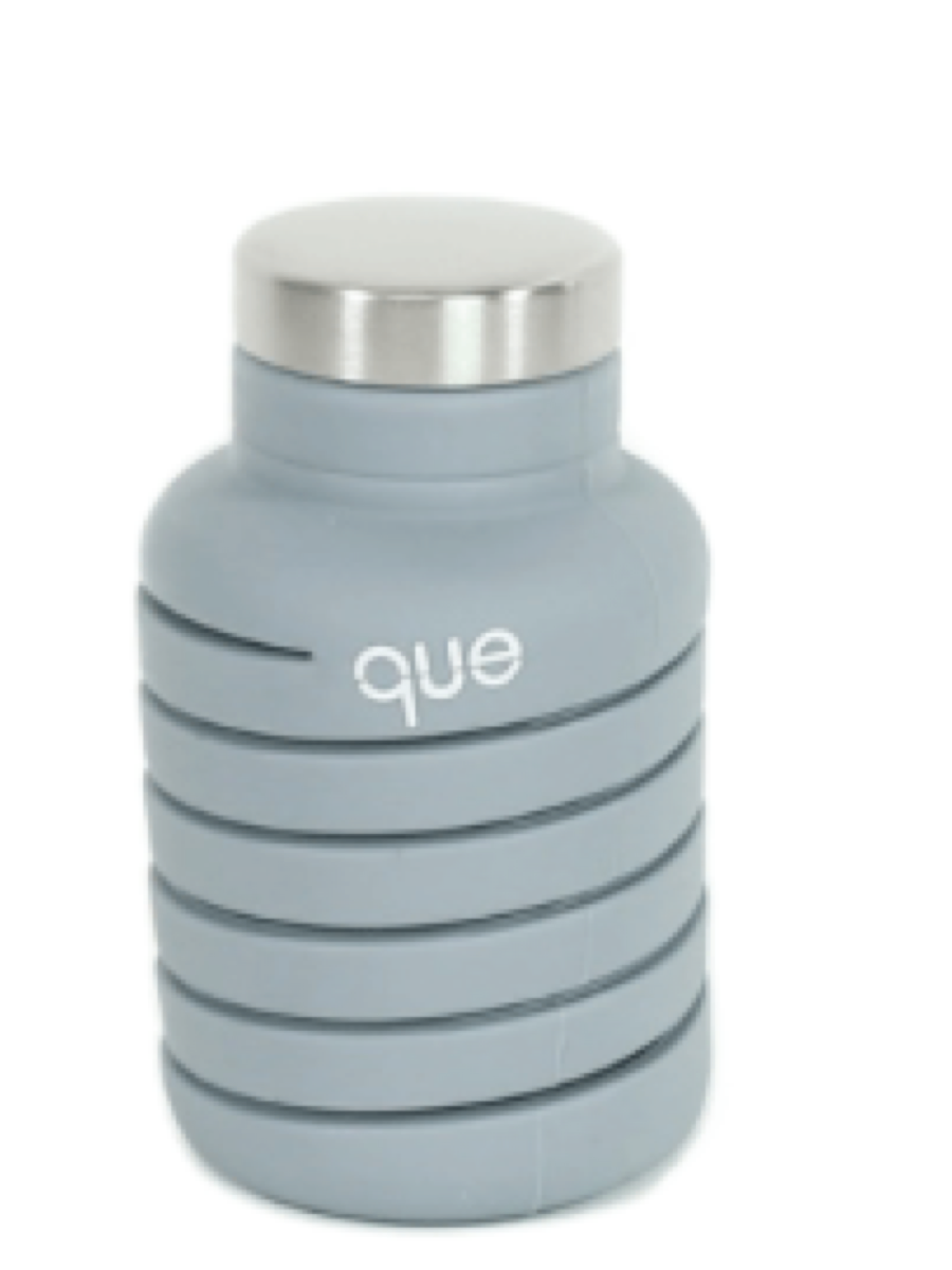 Que 20oz Water Bottle Stone Grey