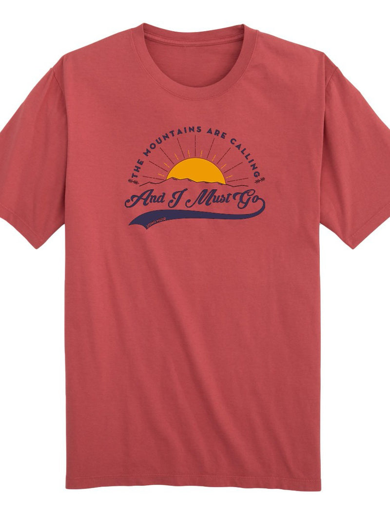 THE MOUNTAINS ARE CALLING AND I MUST GO TEE (100% ORGANIC COTTON)
