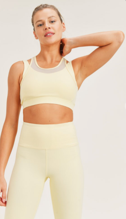 Mesh Overlay Sports Bra AT8084