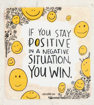 Natural Life Stay Positive Vinyl Sticker