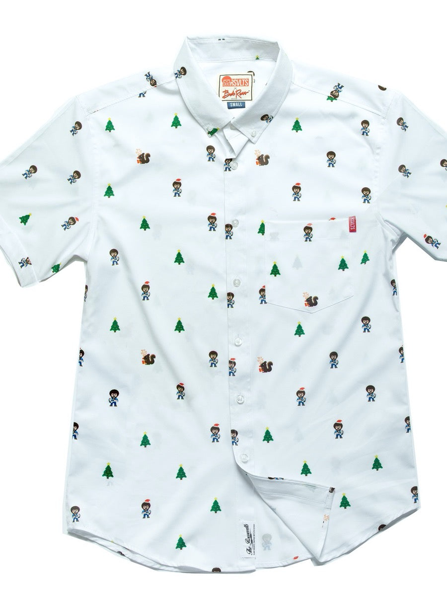 RSVLTS  Bob Ross Happy Holiday Trees – KUNUFLEX Short Sleeve