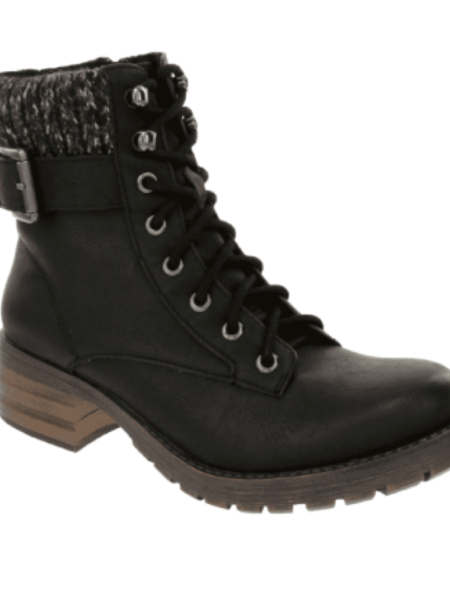 Sugar Zania Combat Boot Black