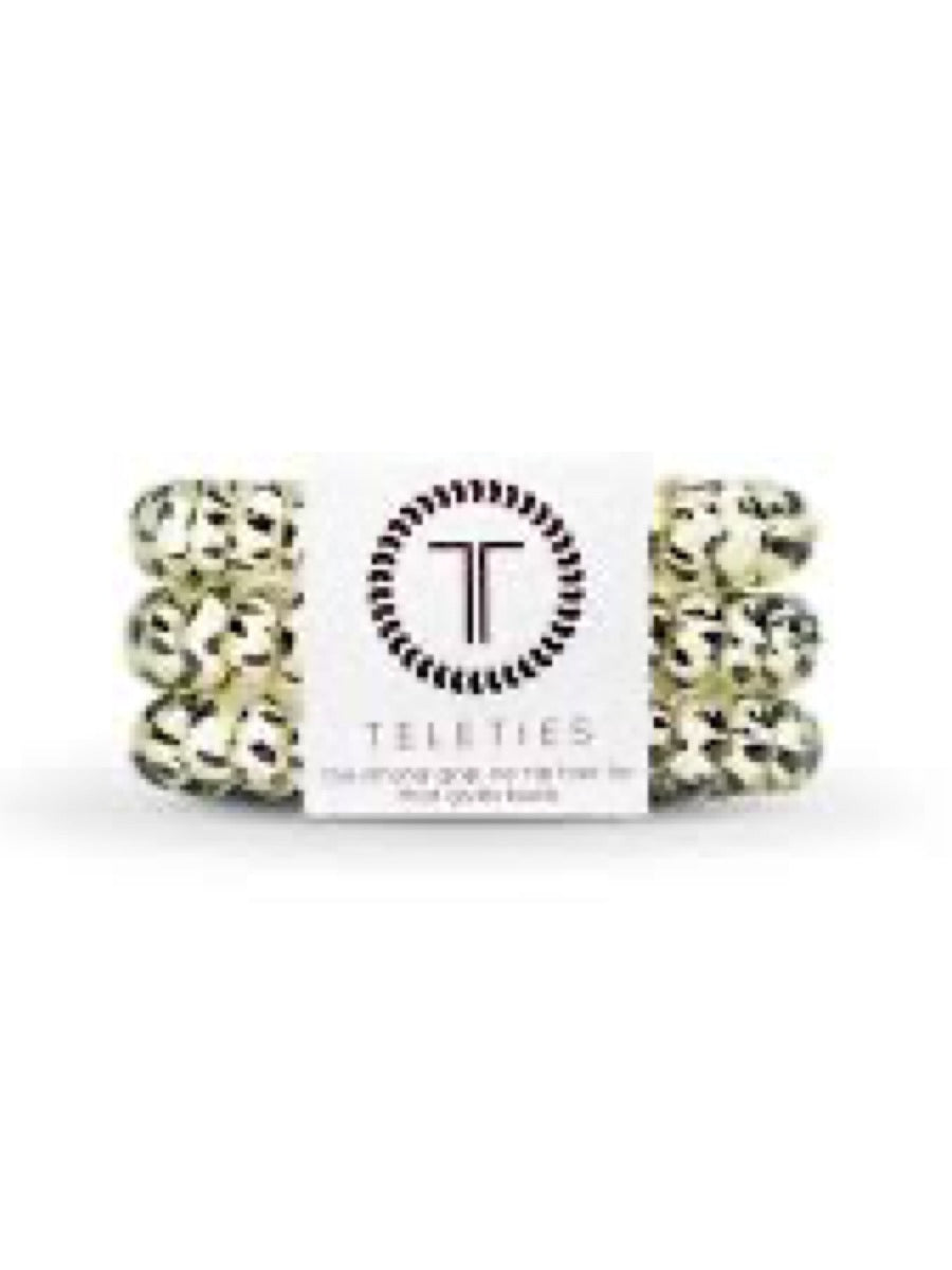 Teleties Small 3 Pack Hair Ties Snow Leopard
