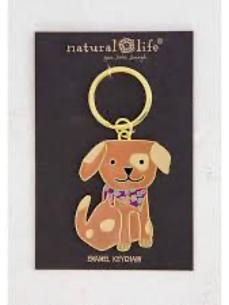 Natural Life Keychain Dog Enamel