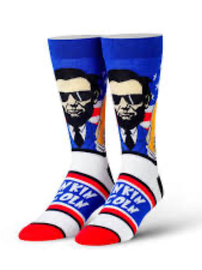 Unisex Cool Socks Drinkin Lincoln